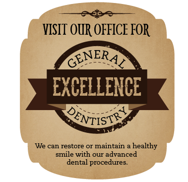 Visit our office for general dentistry excellence!  We can restore or maintain a healthy smile with our advanced dental procedures.